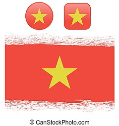 Colored Vietnam Flag