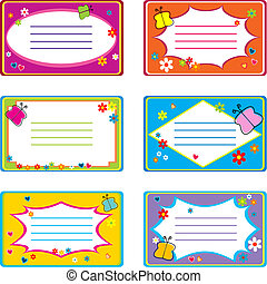 Colored visit cards