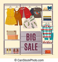 Colored Wardrobe Poster - Colored wardrobe poster with...