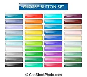 Colored web buttons set