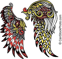 Colored Wings Set