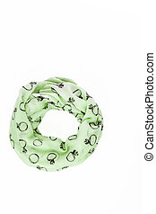 colored with trendy pattern ring scarf-snood, isolated on white background
