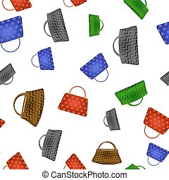 Colored Women Handbag Seamless Pattern