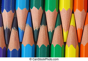 Colored wood pencils