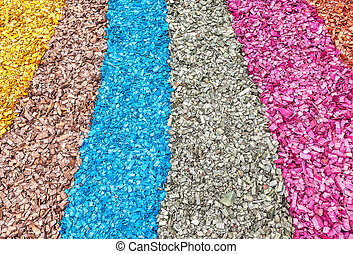 Colored wooden chips as creative background