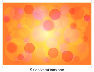 Colored yellow background with bokeh effect