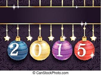 Coloreed Baubles Stars Purple Ornaments 2015