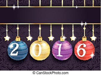 Coloreed Baubles Stars Purple Ornaments 2016