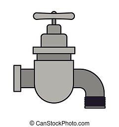 colorer image, robinet, icône