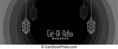 colores, al, fiesta, oscuridad, adha, mubarak, bandera, eid