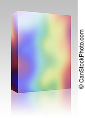 colores del arco iris, caja, paquete