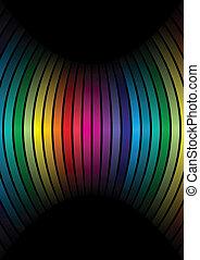 colores del arco iris, fila