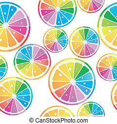 colores del arco iris, limones
