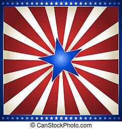 colores, estrella, estados unidos de américa, explosión