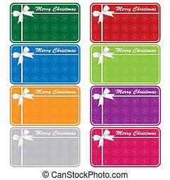 colores, etiquetas, obsequio navidades, variado