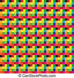 colores, tartán, seamless