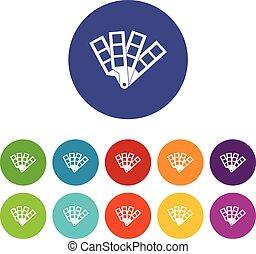 colorez palette, ensemble, guide, icônes