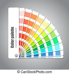 colorez palette, gris, fond, guide