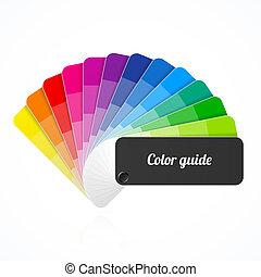 colorez palette, guide, catalogue, ventilateur