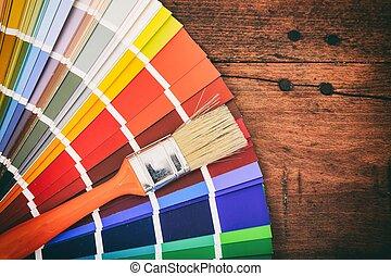 Palette Couleur Bois Intérieur Table Guide Palette Couleur