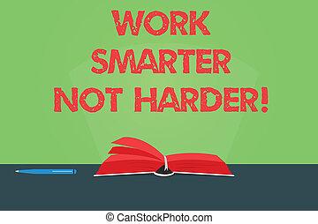 colorez photo, élevé, glaring., harder., table, productivité, efficace, écriture, note, stylo, livre, plus, être, business, smarter, projection, ouvrier, faisceau, pas, pages, lumière, travail, showcasing