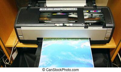 colorez photo, caractères, imprimante, jet encre