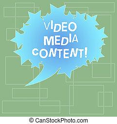 colorez photo, signe, ovale, content., vidéo, vide, images, message, média, parole, étoiles, texte, conceptuel, bulle, projection, utilisé, marque, communiquer, space., contour, audio