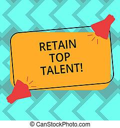 colorez photo, signe, vide, rectangulaire, sien, sommet, deux, texte, conceptuel, porte voix, esquissé, capacité, projection, retenir, talent., icône, son, employés, garder, organisation, forme.