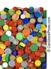 Bottle Caps Background - Colorfoul Plastic Bottle Caps...