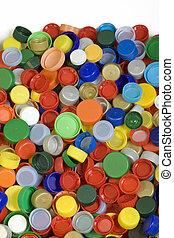 Bottle Caps Background - Colorfoul Plastic Bottle Caps ...