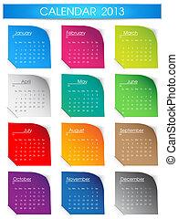 Colorful 2013 calendar