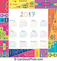 2017 frame calendar with ethnic motifs