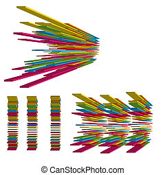 Colorful 3d abstract shapes