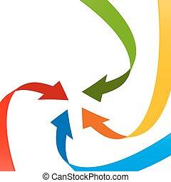 Colorful 3D Arrows  Illustration