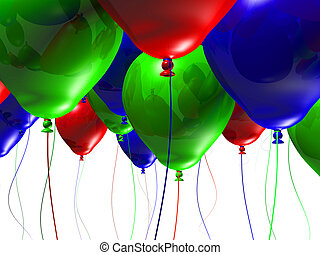 Colorful 3d Balloons