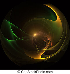 Colorful 3d bubbles. Fractal abstract background.