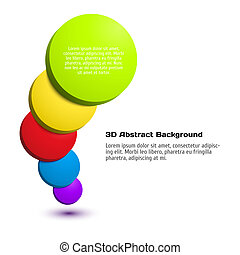 Colorful 3D circle background.
