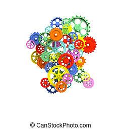 colorful 3d gear