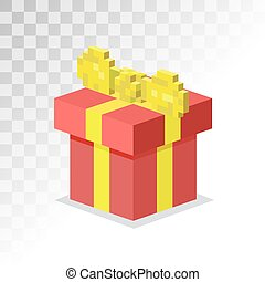 Colorful 3d gift boxes with bows and ribbons vector set