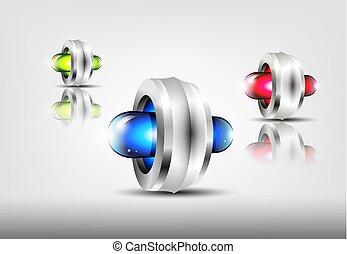Colorful 3d logos