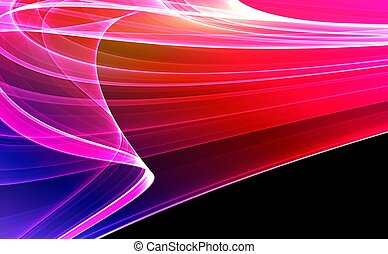 Colorful 3D rendered abstract background