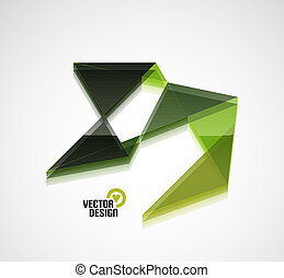 Colorful abstract 3d glossy shape business