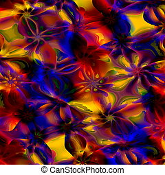 Colorful Abstract Art Background.