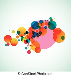 Colorful abstract background beautiful circles