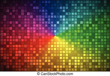 Colorful abstract background, color gradient with transparent squares, vector illustration