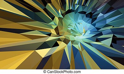 Colorful abstract background in green and yellow tone -...