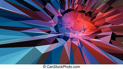 Colorful abstract background in red and blue tone -...