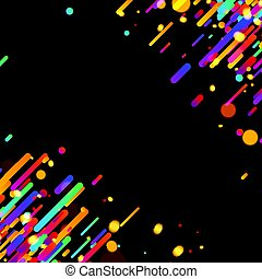 Colorful abstract background on black.