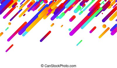 Colorful abstract background on white.