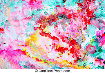 Abstract Isolated Colorful Paint And Splatter Background